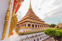 Wat nong wang, thai tempel Royaltyfri Foto