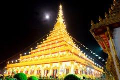 Wat nongwaeng i den Khon Kaen staden arkivfoton