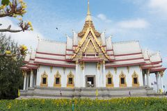 Wat Nonkhum,Sorapong. Famous Temple of Khorat, I`ve traveled to the sacred altar in the day`s major religion Royalty Free Stock Photo