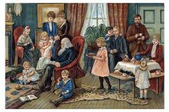 Wat omringt ons in aard? Familie Royalty-vrije Stock Foto's