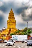 Wat Ounalom寺庙,金边,柬埔寨 免版税库存图片