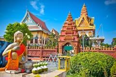 Wat Ounalom Pagoda, Phnom Penh, Cambodia. Stock Images