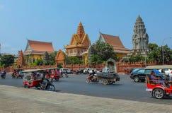 Wat Ounalom in Phnom Penh Royalty-vrije Stock Foto