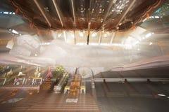 Wat Pa的Phu Kon白斜倚的菩萨,东北泰国 免版税库存照片