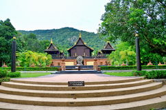 Wat Pa Aumpawan Temple en Tailandia Fotografía de archivo