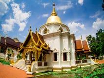 Wat Pa Dara Pirom Lanna architecture, Chiang Mai Thailand stock photo
