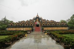 Wat Pa Kung, Roi Et, Thailand. Beautiful and famous temple royalty free stock images