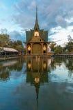 Wat Pa Maha Chedi Kaew Han District Wat Sisaket miljon flaskor Fotografering för Bildbyråer