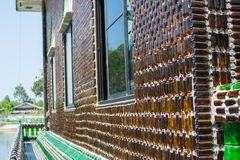 Wat PA Maha Jedi kaeo & x28;WAT million bottles& x29; in sisaket,THAILAND 2017.  Royalty Free Stock Photo
