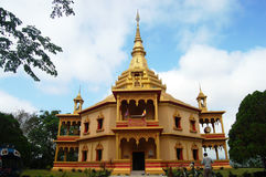 Wat Pa Phonphao na cidade de Luang Prabang em Loas Imagem de Stock Royalty Free