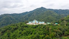 Wat Pa Phu Kon är ett ställe av religiös turism Udon Thani landskap, Thailand arkivfoto