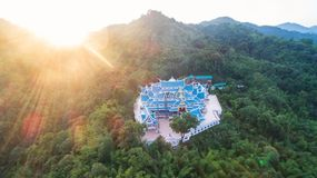 Wat PA Phu Kon σε Ubon Ratchathani, Ταϊλάνδη Είναι ένας δημόσιος ναός Στοκ Εικόνες