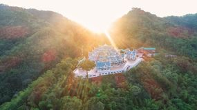 Wat Pa Phu Kon In Ubon Ratchathani,Thailand.Is a public temple. In the middle of the forest is beautiful. And is popular with tourists.The morning sun shines Stock Images