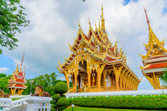 Wat Pa Saeng Arun-tempel Stock Afbeeldingen