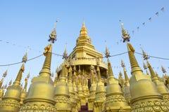 Wat Pa Sawang小圆面包寺庙 库存图片