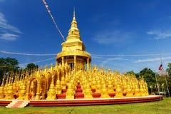 Wat Pa Sawang Bun i Saraburi Arkivfoton