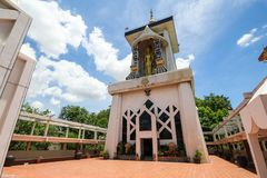 WAT-PA SIRI WATTANA WISUT, NAKHON SAWAN, Thailand Royalty-vrije Stock Fotografie
