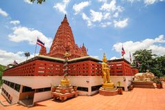 WAT PA SIRI WATTANA WISUT, NAKHON SAWAN, THAILAND. Beautiful temple Stock Images