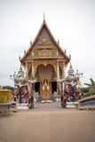 Wat Pai Laem temple Royalty Free Stock Images