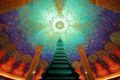 Wat Paknam Bhasi Charoen η σμαραγδένια πράσινη παγόδα Στοκ εικόνα με δικαίωμα ελεύθερης χρήσης