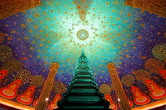 Wat Paknam Bhasi Charoen The emerald green pagoda Royalty Free Stock Image