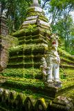 Wat Palad寺庙stupa,清迈,泰国 库存照片