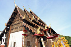 Wat Pan Tao in Chiang Mai Royalty Free Stock Photo