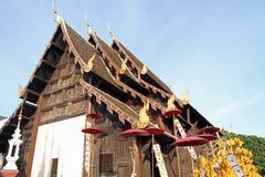Wat Pan Tao i Chiang Mai Royaltyfri Foto