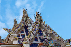 Wat Pariwat The Famous temple in Thailand Royalty Free Stock Photo