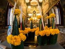 Wat pathum wanaram佛教寺庙在曼谷,泰国 免版税库存图片