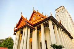 Wat Pathum Wanaram Temple. Beautiful building near the community Royalty Free Stock Images