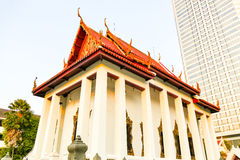 Wat Pathum Wanaram Temple. Built beautifully Royalty Free Stock Image