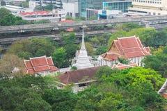Wat Pathum Wanaram or Wat Pathum for short is a Buddhist temple in Bangkok, Thailand. Stock Photos