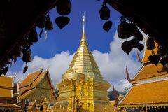 Wat Pha That Doi Suthep Stock Afbeelding