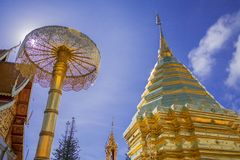 Wat Pha That Doi Suthep images libres de droits