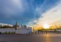 Wat Pha Kaew temple of emerald Buddha and Grand Palce. Stock Photos