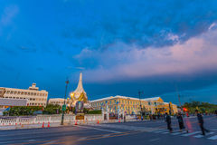 Wat Pha Kaew temple of emerald Buddha and Grand Palce. Royalty Free Stock Photography
