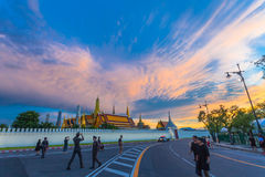 Wat Pha Kaew temple of emerald Buddha and Grand Palce. Stock Image