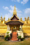 Wat Pha That Luang, Laos. Stock Photography