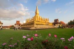 Wat Pha That Luang temple in Vientiane, Laos. Stock Photos