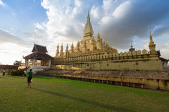 Wat Pha That Luang temple in Vientiane, Laos. Stock Photography