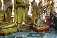 Wat Pha That Luang Temple in Vientiane, Laos royalty free stock images