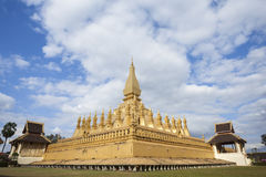 Wat Pha That Luang in Vientiane Stock Photos
