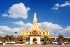 Wat Pha That Luang in Vientiane, Laos Royalty Free Stock Image