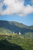 Wat Pha Sorn Kaew. Five white Buddha with mountain at Wat Pha Sorn Kaew, Khao Kho, Phetchabun Royalty Free Stock Images