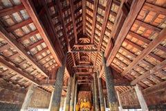 Wat pha tat je-di luang in lampang, thailand. The royal temple Stock Photo