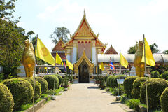 Wat Phai Lom Temple at Koh Kret Royalty Free Stock Photo