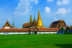 Wat phakeaw. The important temple in thailand Stock Photo