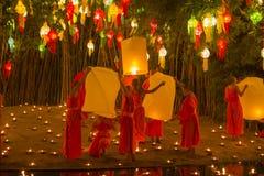 Wat Phan Tao, Chiangmai, Tailândia foto de stock