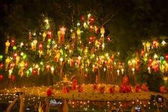 Wat Phan Tao, Chiangmai, Tail?ndia imagens de stock